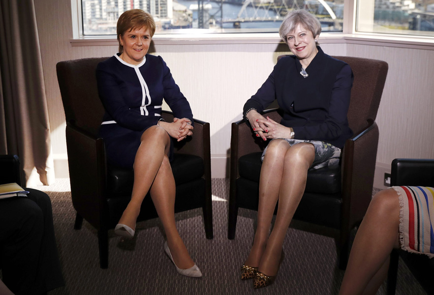 Theresa May en Nicola Sturgeon