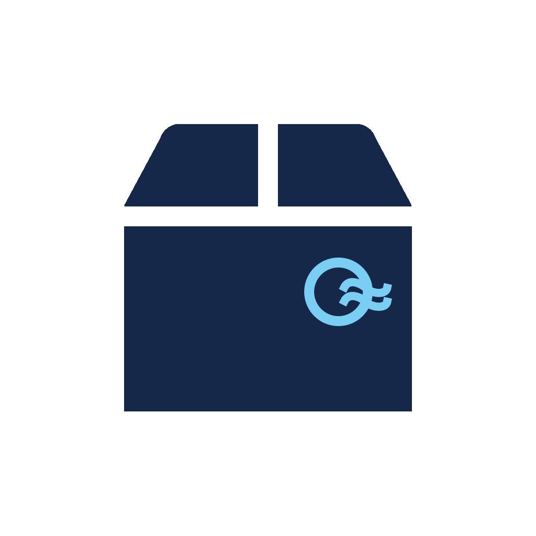 icoon van een doos