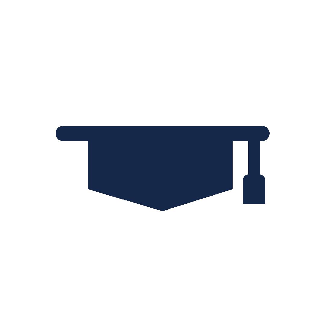 icoon van een studeerhoedje