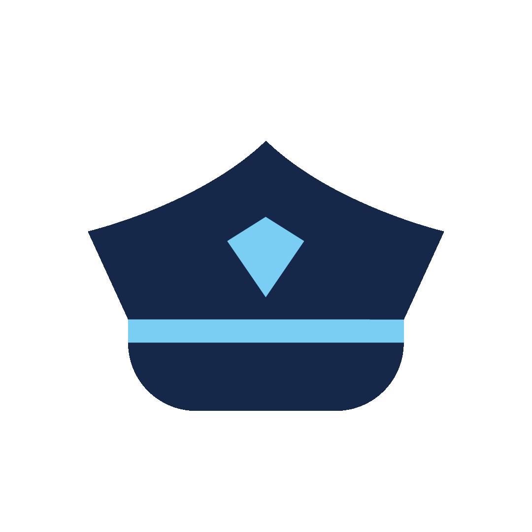 icoon van een politieagent