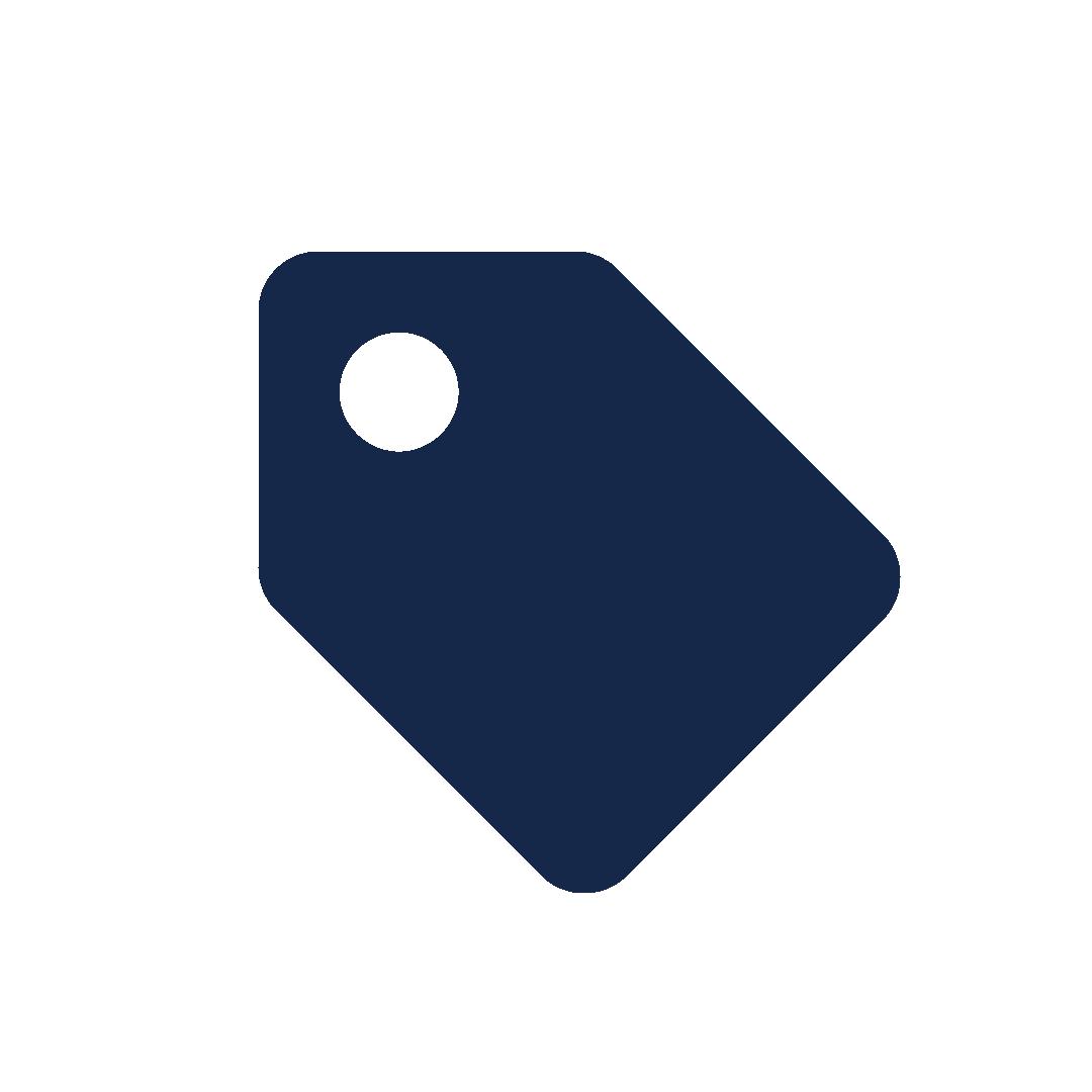 icoon van een prijskaartje